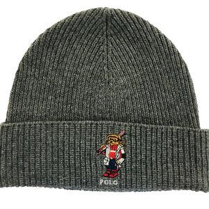Ralph Lauren BEAR Men's Cuffed Beanie Knit Hat